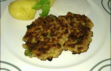 Dinkelreis-Käse-Laibchen